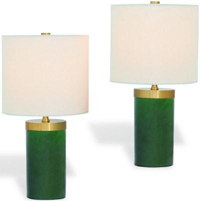 Lumine Tower Table Lamp, Emerald (Set Of 2)