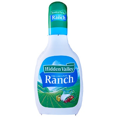 Giant Inflatable Ranch Dressing Bottle