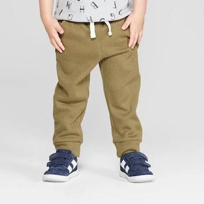 Toddler Boys' Cozy Back Pull-On Jogger Pants - Cat & Jack™ Olive