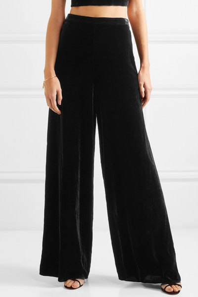 The Tommy Velvet Wide-Leg Pants