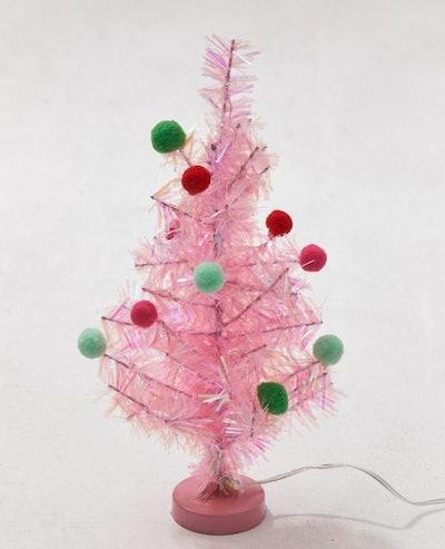 Mini Pink USB Christmas Tree