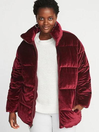 Plus-Size Frost-Free Velvet Puffer