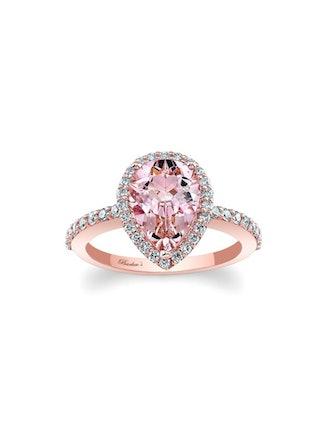 Pear Shape Morganite Engagement Ring