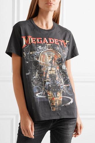 Megadeth Distressed Printed Cotton-Jersey T-Shirt