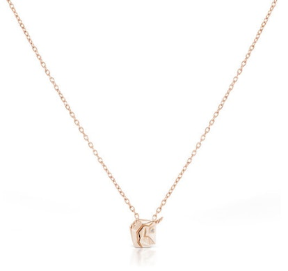 Petit Magix the Unicorn Necklace in Rose Gold Plated