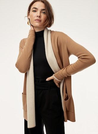 Beekman Sweater Merino-Wool-Blend Cardigan