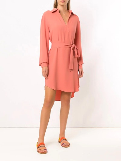 Long Sleeved Wrap Style Dress
