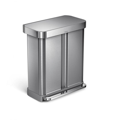 58L Rectangular Step Can With Liner Pocket and Recycler