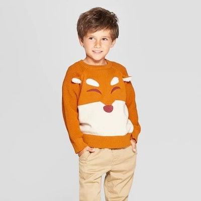 Toddler Boys' Fox Sweater - Cat & Jack™ Brown