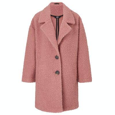 Pink Crombie Coat