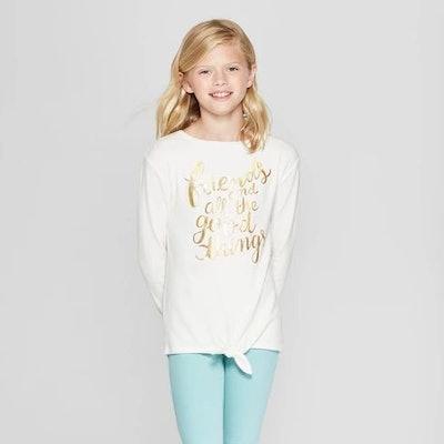 Girls' Long Sleeve Good Things Cozy Pullover - Cat & Jack™ Cream