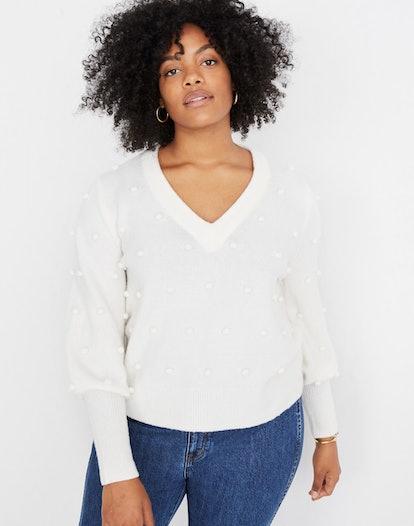 Bobble Dashwood V-Neck Sweater