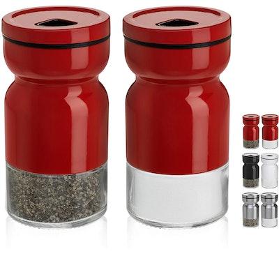 CHEFVANTAGE Salt and Pepper Shakers (Set of 2)