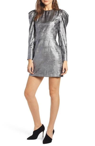 Something Navy Foil Minidress