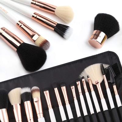 ZOREYA Rose Gold Makeup Brush Set