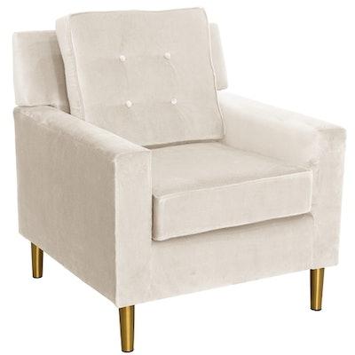 Aviva Velvet Chair, Dove