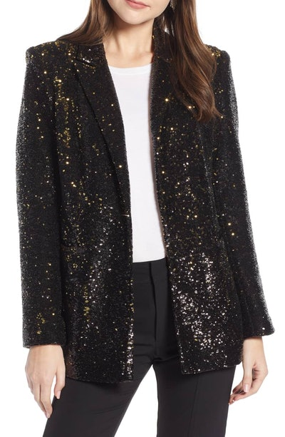 Something Navy Sequin Blazer