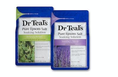 Dr Teal's Epsom Salt Soaking Solution, Eucalyptus and Lavender (2 Count)