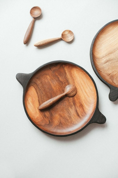 Wooden serving plate