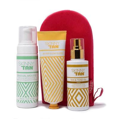 Skinny Tan Fake Tanning and Mitt Gift Set, previously £59.99