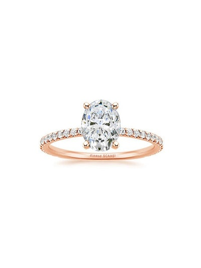 Avery Tiny Side Diamond Engagement Ring