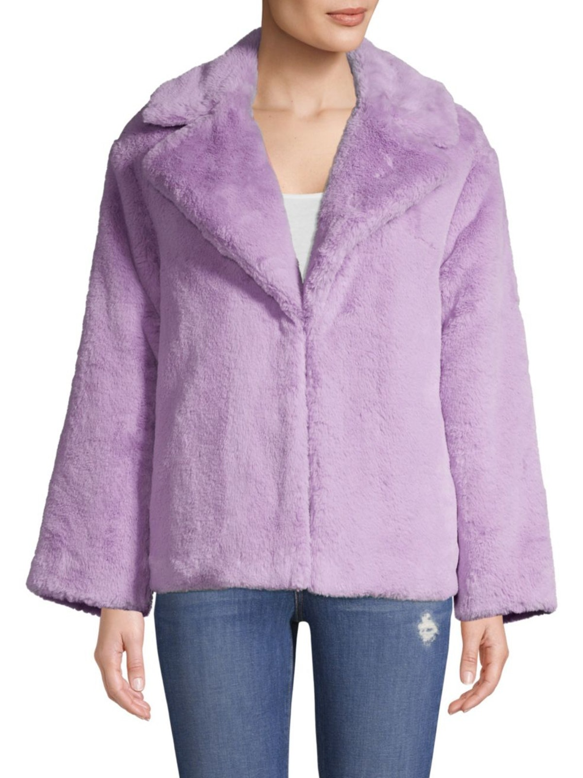 Alice + Olivia Thora Oversize Faux Fur Coat