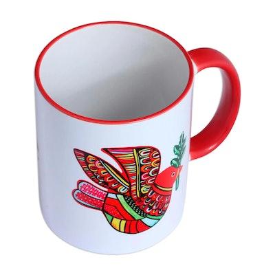 Red Dove Ceramic Mug