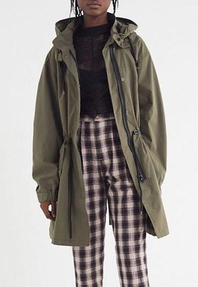 Hooded Longline Parka Coat