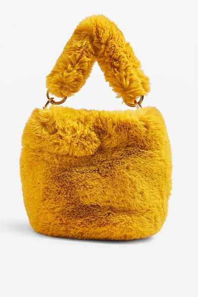 Teddy Faux Fur Bucket Bag