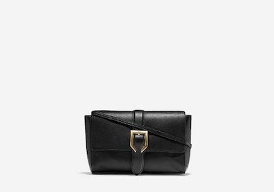 Kayden Crossbody in Black Leather