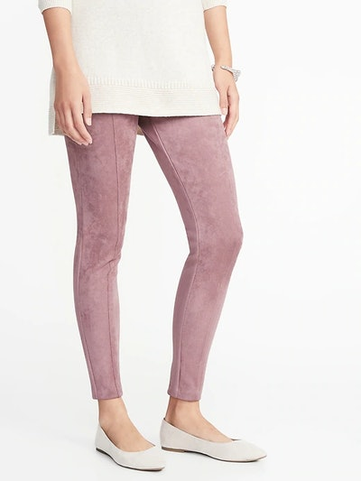 High-Rise Stevie Faux Suede Knit Pants