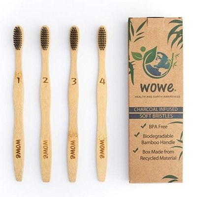 Wowe Charcoal-Infused Bamboo Toothbrush