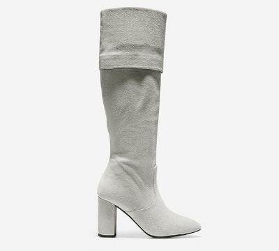 Tess Cuff Boot (85mm) in Ironstone Suede