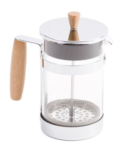 Master Class Stainless Steel 6cup Oak Handle Coffee Press