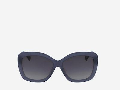 Acetate Cateye Sunglasses in Slate Blue