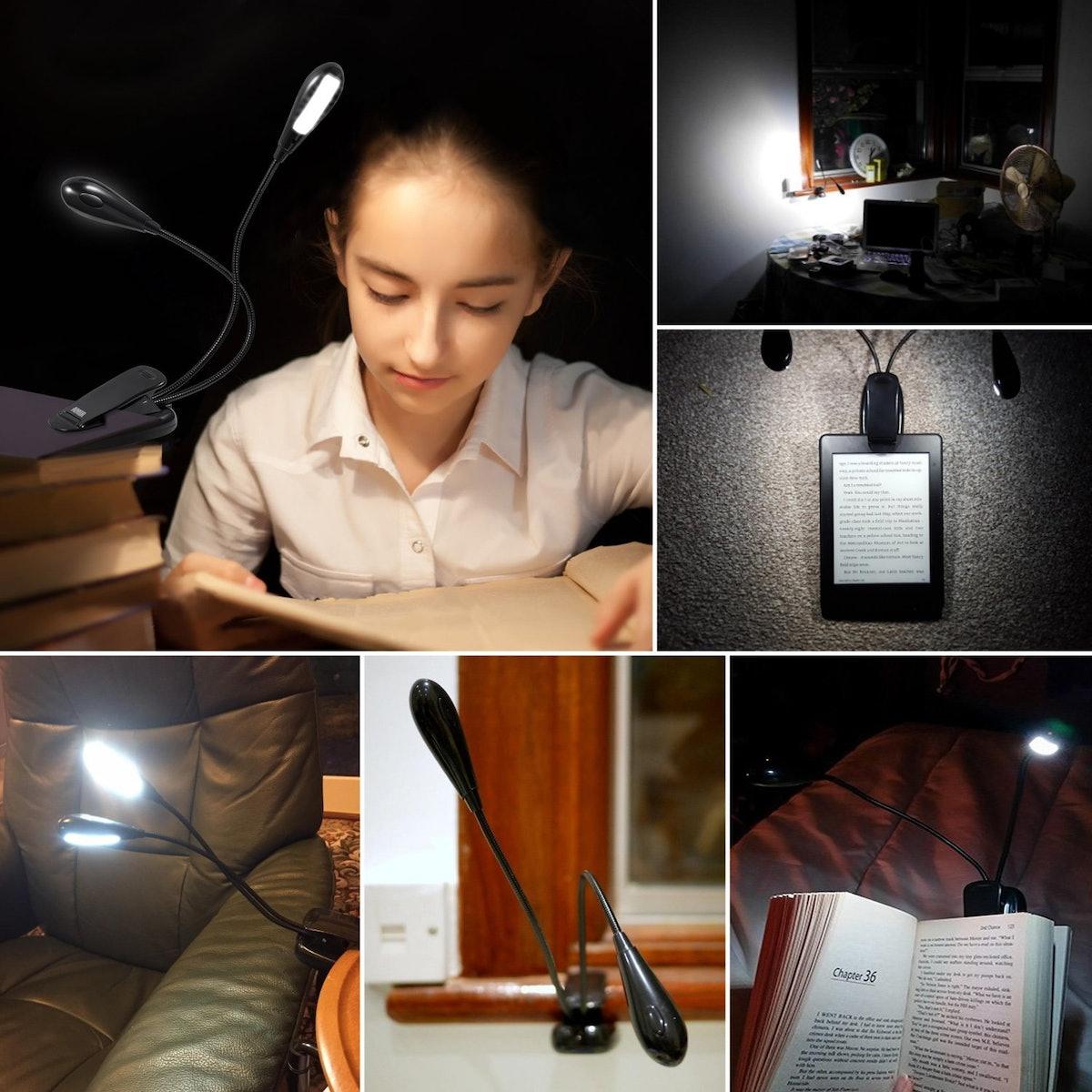 AMIR Clip-On Book Light
