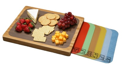 Seville Classics Bamboo Color-Coded Cutting Board