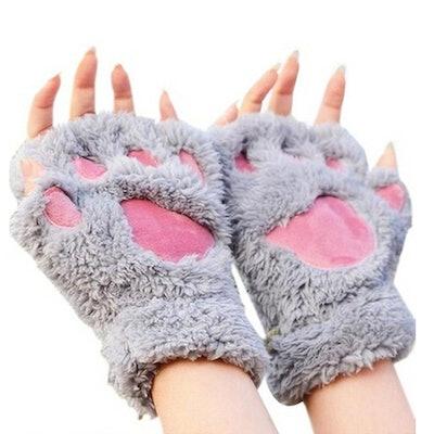 Arshiner Women Bear Plush Cat Paw