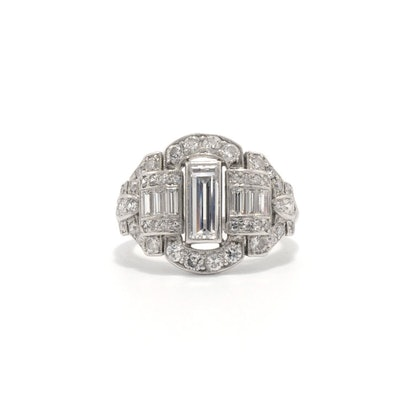 Lille Art Deco Engagement Ring