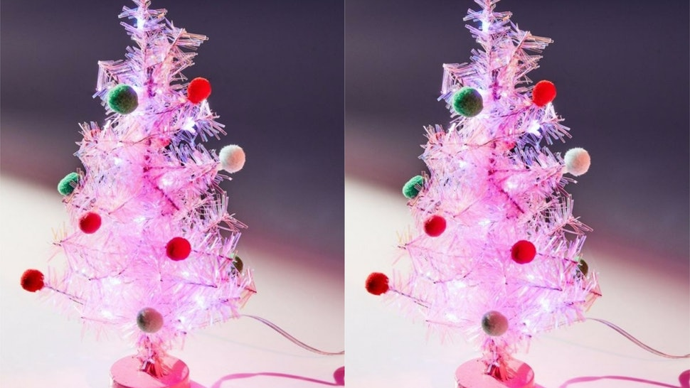 This Millennial Pink Christmas Tree For Desks From Urban Outfitters