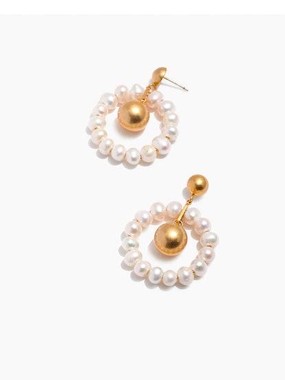 Pearl Hoop Earrings