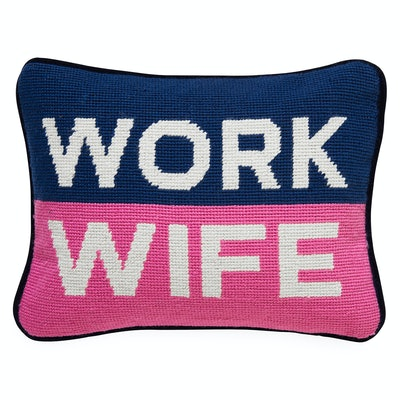 Work Wife Needlepoint Pillow