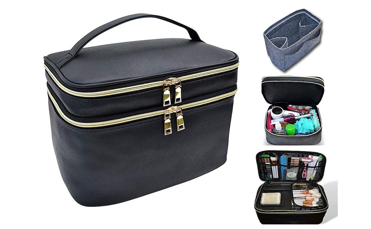 Adee Joy Extra Large Capacity Makeup And Toiletry Bag