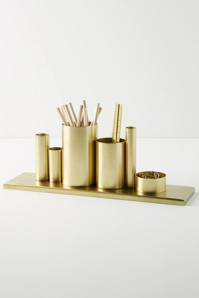 Gold Codify Pencil Holder