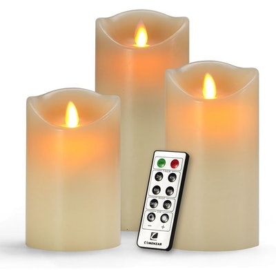 Comenzar Flameless Candles (Set of 3)