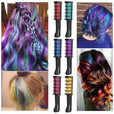 Rosenice Hair Chalk Comb Shimmer Temporary Hair Color Cream