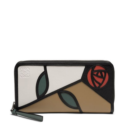 LOEWE Puzzle Zip Around Wallet Roses