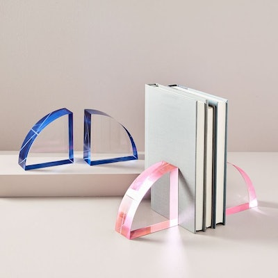 Color Pop Crystal Bookends