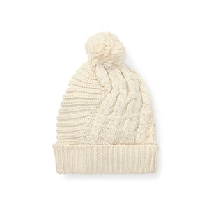 Pom-Pom Cable-Knit Hat