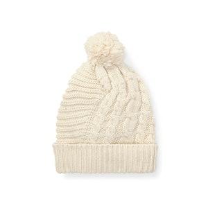 Pom-Pom Cable-Knit Hat